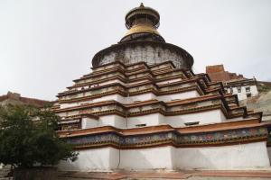 Stupa  w tybetańskim mieście Gjance