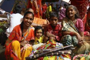 kolorowi mieszkańcy Indii