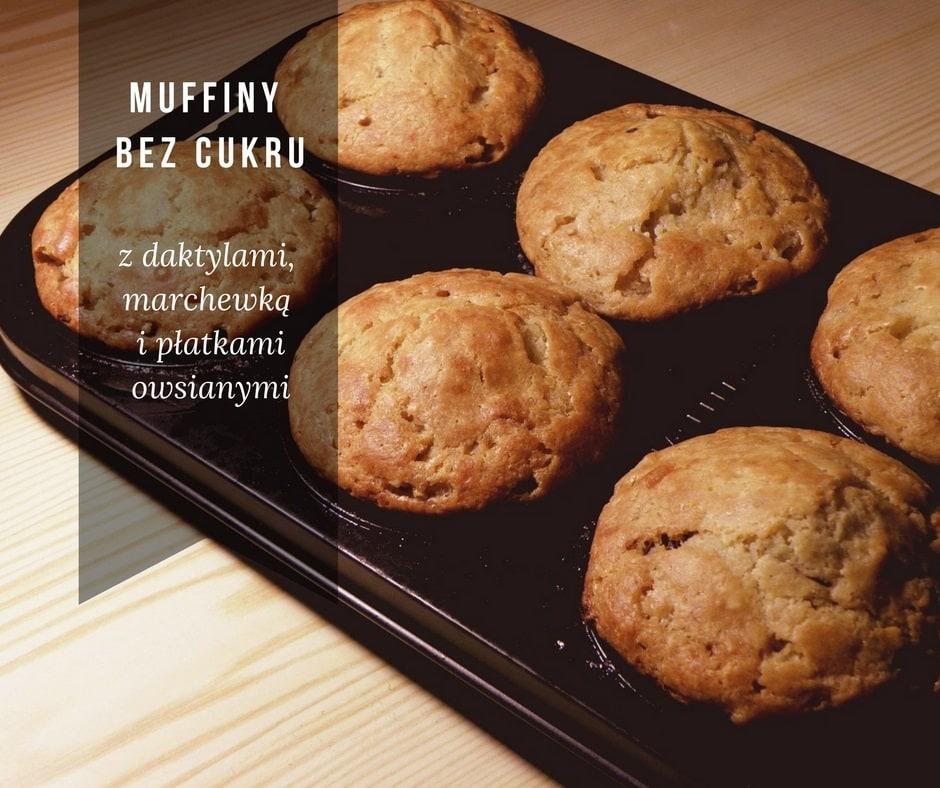 Muffiny marchewkowo-daktylowe