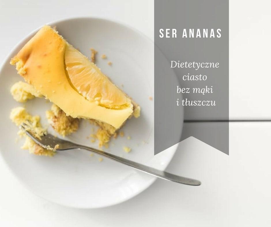 Ciasto ananasowe bez mąki