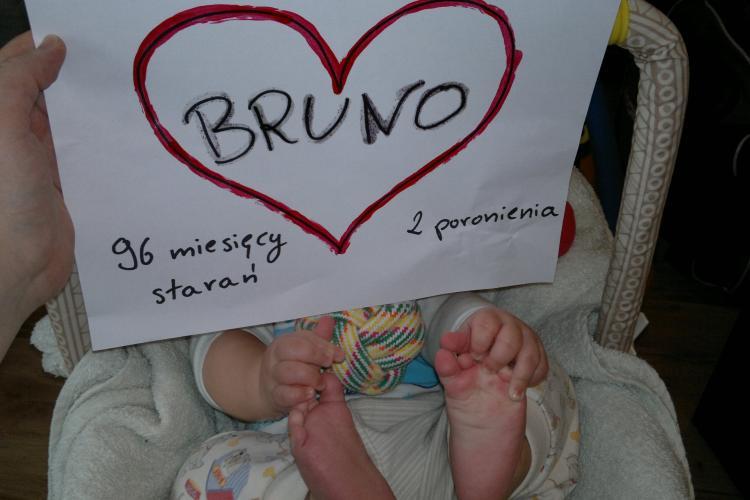 8 lat starań, 5 inseminacji, 2 poronienia, in vitro i w końcu... Bruno