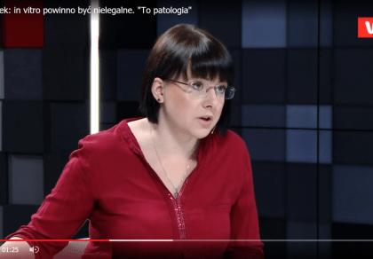 Kaja Godek: In vitro to patologia. Metoda powinna być CAŁKOWICIE zabroniona!