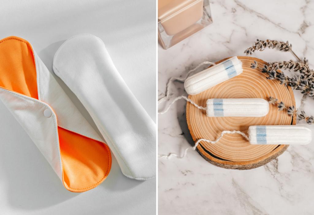 Ekologiczne tampony, podpaski wielokrotnego użytku